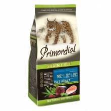 Primordial сухой беззерновой корм для взрослых кошек с лососем и тунцом 2 кг