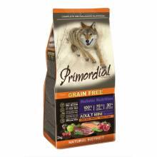 Primordial cухой беззерновой корм для взрослых собак мелких пород с форелью и уткой - 2 кг