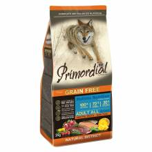Primordial сухой беззерновой корм для взрослых собак с форелью и уткой 2 кг (12 кг)
