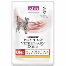 Влажный корм Purina Pro Plan Veterinary diets DM Diabetes Management для взрослых кошек при диабете с курицей - 85 г х 10 шт