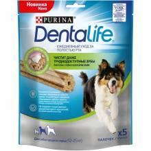 Лакомство Purina DentaLife для собак средних пород для поддержания здоровья полости рта - 115 г