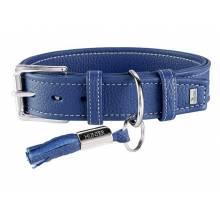 Hunter ошейник для собак Cannes 50 (34-42 см)/2,8 см натуральная кожа синий