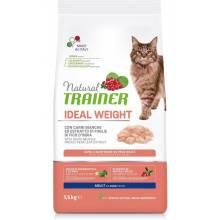 Сухой корм Trainer Natural Ideal Weight для взрослых кошек с избыточным весом с белым мясом - 1,5 кг