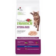 Сухой корм Trainer Natural Sterilised для взрослых стерилизованных кошек с белым мясом - 10 кг