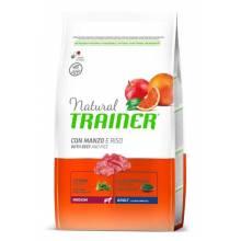 Сухой корм Trainer Natural Medium Adult для взрослых собак средних пород с говядиной и рисом - 3 кг (12 кг)