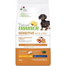 Trainer Natural Sensitive сухой корм для взрослых собак мелких пород без глютена с лососем и цельными злаками - 2 кг