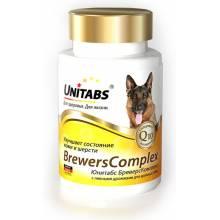Unitabs BrewersComplex с Q10 комплекс витамин для крупных собак 100 таб.