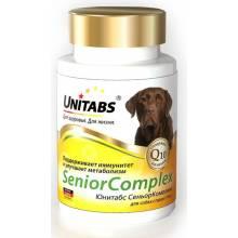 Unitabs SeniorComplex с Q10 витамины для пожилых собак 100 таб.