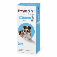 Intervet Бравекто капли от блох и клещей для собак массой от 20 до 40 кг