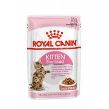 Royal Canin Kitten Sterilised влажный корм для котят кусочки в соусе в паучах - 85 г х 12 шт (в соусе)