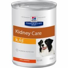 Hill's Prescription Diet k/d Kidney Care консервы для собак диета при хронической болезни почек с курицей 370 гр х 12 шт.