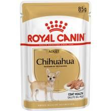 Royal Canin Chihuahua Adult влажный корм в паучах для взрослых собак породы чихуахуа от 8 месяцев (паштет) - 85 г х 12 шт