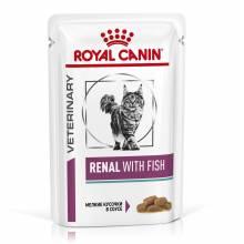 Royal Canin Renal feline with Fish pauch Диета для кошек при почечной недостаточности с рыбой - 0.85 гр х 12 шт.