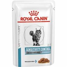 Royal Canin Sensitivity Control Feline Диета для кошек при пищевой аллергии, непереносимости - 100 гр х 12 шт.