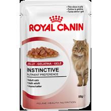 Royal Canin Feline Instinctive Gelee влажный корм в пауче в желе с мясом для кошек старше 1 года - 85 г х 12 шт