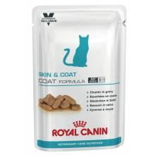 Royal Canin Skin & Coat Formula влажный корм для взрослых кошек кусочки в соусе в паучах с курицей - 100 гр х 12 шт.