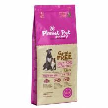 Planet Pet Grain Free Salmon Adult сухой корм беззерновой для взрослых собак с лососем 2,5 кг (12 кг)