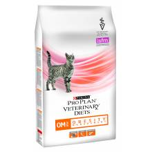 Purina Pro Plan Veterinary Diets Feline OM Obesity (Overweight) Management dry для взрослых кошек при ожирении - 1,5 кг