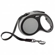 Рулетка Flexi New Comfort L (до 50 кг) лента 8 м черный/серый