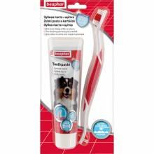 Зубная паста и щетка Beaphar Toothpaste для собак и кошек - 100 г