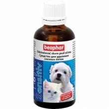 Лосьон Beaphar Sensitiv для удаления слезных пятен у кошек и собак - 50 мл